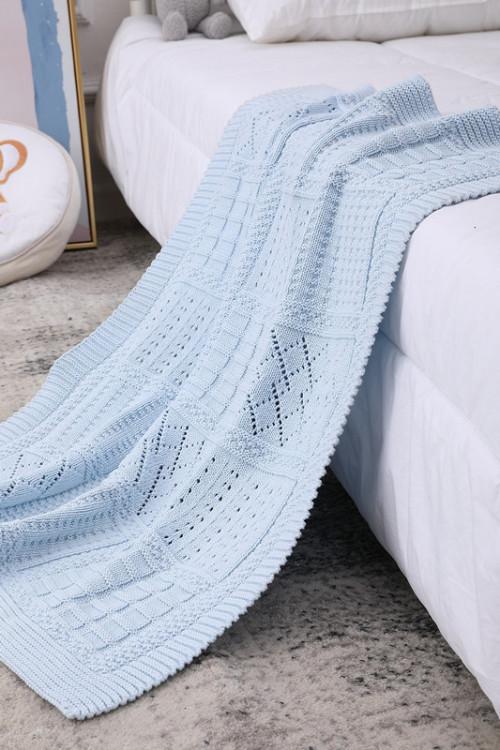 Manta de bebé tejida Swaddle Wrap Cálidas mantas de cochecito al por mayor para recién nacidos o bebés