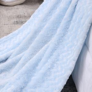 Manta de bebé al por mayor de chenilla azul suave Kintted Premium acogedor para la mejor comodidad