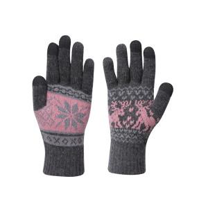 OEM Touchscreen Gloves Wholesale Anti-pilling Women Knitted Gloves