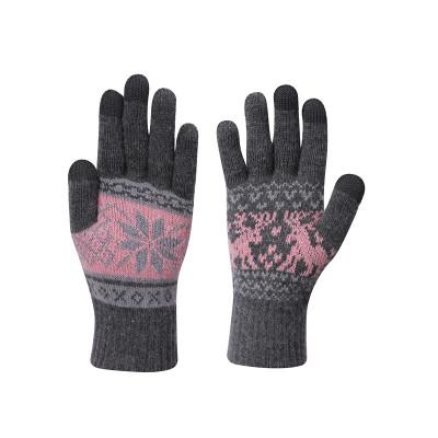 OEM перчатки с сенсорным экраном оптом женские вязаные перчатки с защитой от катышков