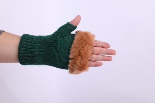 Los guantes sin dedos al por mayor del OEM reciclan los guantes hechos punto