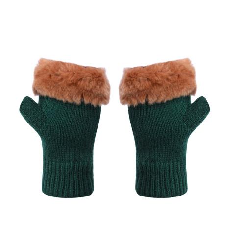 Les gants sans doigts OEM de gros recyclent les gants tricotés