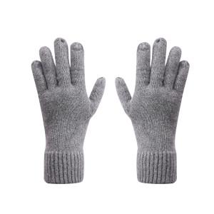 OEM Wholesale Womens Winter Knit Gloves Anti-pilling Warm Gloves