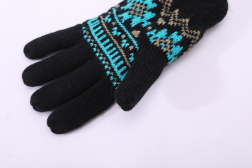 OEM оптовые трикотажные перчатки с пальцами перерабатывают зимние перчатки