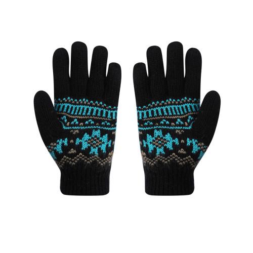 Los guantes hechos punto al por mayor del OEM con los dedos reciclan los guantes del invierno