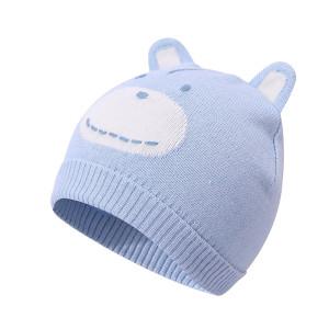 OEM Baby Knitted Beanie Hats, Wholesale Warm Kids Girl Boy Ear Hat