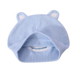 OEM детские вязаные шапочки-бини, оптовая теплая детская шапка с ушками для девочек