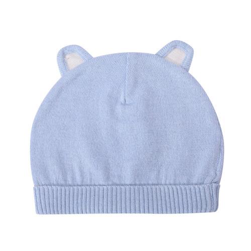 Sombreros hechos punto bebé de la gorrita tejida del OEM, sombrero caliente al por mayor del oído del muchacho de la muchacha de los niños