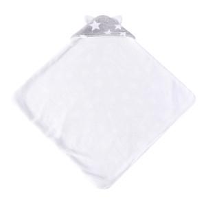 Вязаные детские одеяла, пригодные для вторичной переработки, двухслойное флисовое одеяло с принтом звезд, оптовая продажа