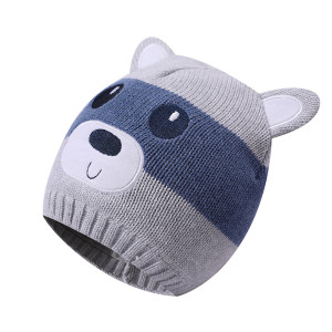 Wholesale Infant Baby Boys Girls Knitted Hat with Earflaps From Chinese Supplier
