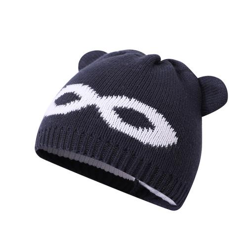 Sombrero de bebé hecho punto al por mayor Sombrero recién nacido Gorro adorable de oreja de oso de algodón