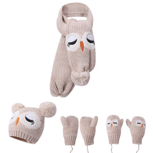 Wholesale Baby Hat Scarf Gloves Winter Warm 3 Pieces Set