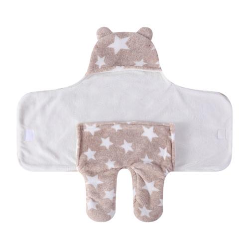 Abrigo tejido reciclable lindo recién nacido al por mayor del saco de dormir del bebé con estampado de estrella impreso