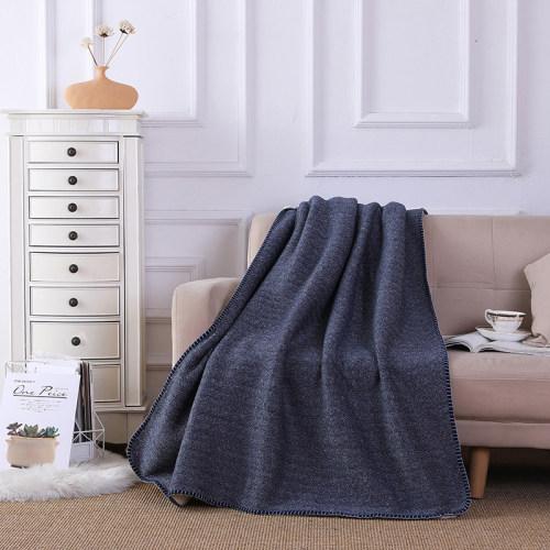Вязаное шерстяное одеяло оптом для дивана-кровати, плюшевое одеяло из флиса с шевронами