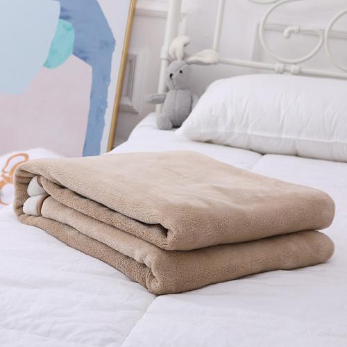 Manta al por mayor del bebé de Sherpa, manta reciclable del modelo neutral mullido de la ardilla de Brown