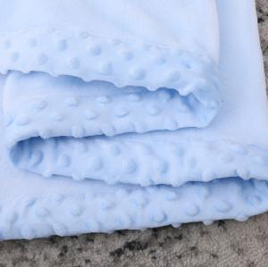 Manta al por mayor del bebé de la franela, manta aumentada reciclable del modelo de los puntos con el bordado