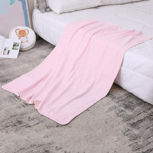 Star Pattern Wholesale Knitted Baby Blanket Toddler Receiving Blanket Super Soft