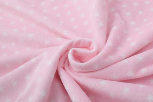 Manta de bebé tejida al por mayor con estampado de estrellas súper suave y perfecta para la piel