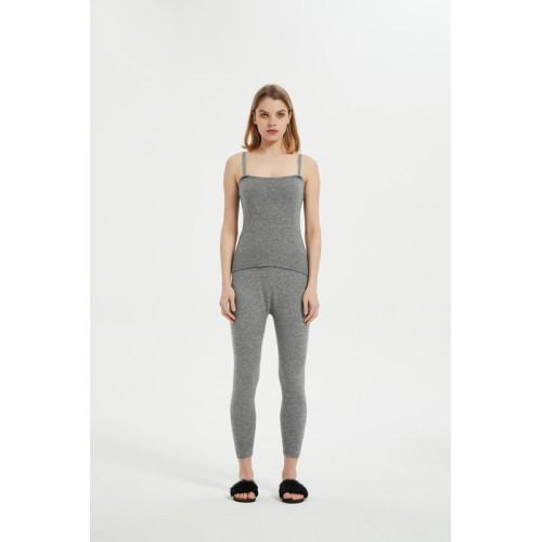 Pyjama débardeur en tricot de coton pour femme