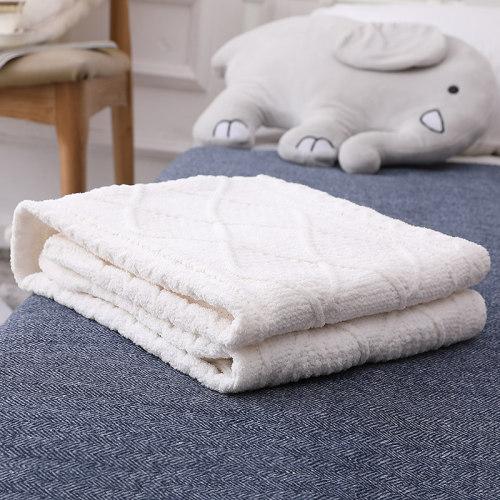 Manta hecha punto 100% algodón orgánico superior al por mayor del bebé, punto blanco de la textura