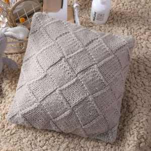 Housse de coussin en gros, coussin tricoté décoratif doux et confortable
