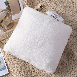 Cas de coussin tricoté solide décoratif en peluche en gros pour le canapé et le lit