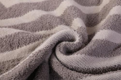 Manta de tiro reciclada textura aterciopelada súper suave de chenilla personalizada de fábrica china