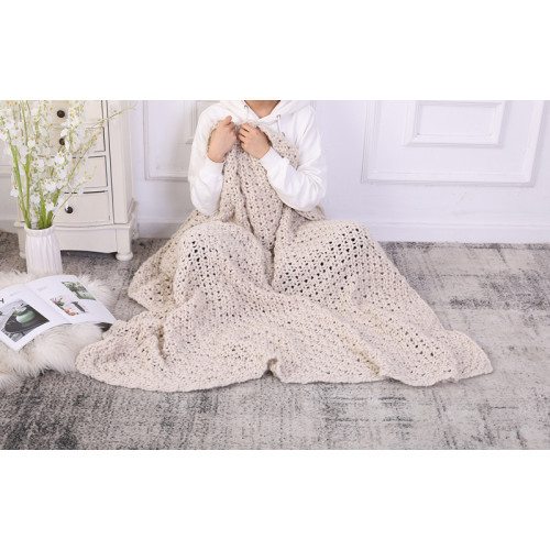 Wholesale Chunky Cable Knit Blanket Throw,Machine Washable