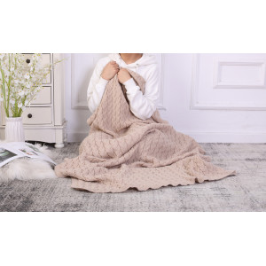 Wholesale Throw Knit Blanket Cable Knit Sweater Style Year Round Gift