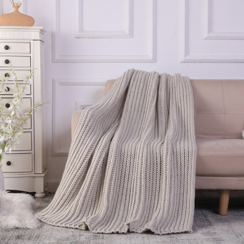 Wholesale 100% Cotton Cable Knit Throw Blanket,Machine Washable