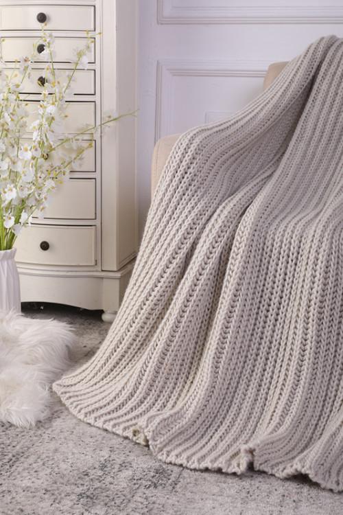 Manta 100% del tiro del tejido de cable del algodón al por mayor, lavable a máquina