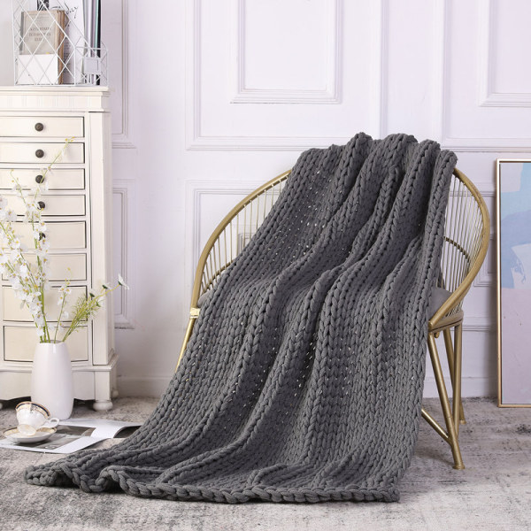 OEM Hand Made Chunky Knit Weighted Throw Blanket for Sleep, Stress or Home Décor