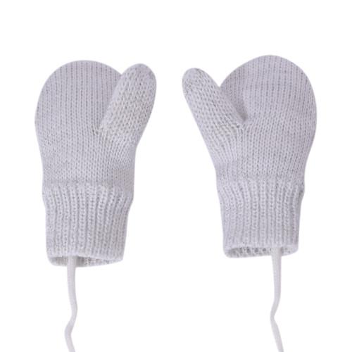 Guantes de punto calientes gruesos de invierno unisex para bebés y niños pequeños al por mayor con cadena
