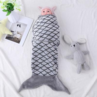 Saco de dormir al por mayor del bebé, saco de dormir lindo del bebé de la forma de los pescados