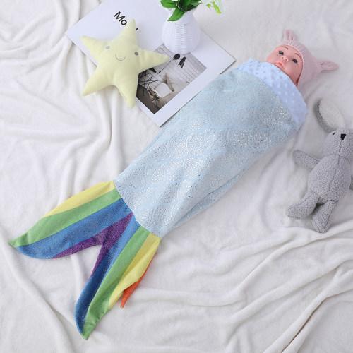 El OEM embroma el saco de dormir del bebé de la cola de la sirena, saco de dormir cómodo estupendo del arco iris de la sirena del paño grueso y suave de la franela al por mayor