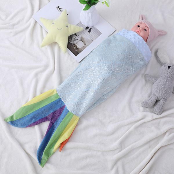 OEM Kids Mermaid Tail Baby Sleep Sack,Super Comfty Flannel Fleece Mermaid Rainbow Sleeping Bag Wholesale