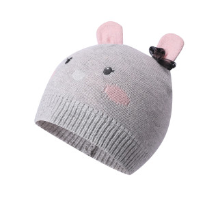 Bebé al por mayor hecho punto sombreros de invierno infantil recién nacido niño otoño lindo earflap