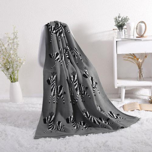Venta al por mayor 100% algodón orgánico mantas para bebés manta suave para envolver para bebés recién nacidos con cebra linda