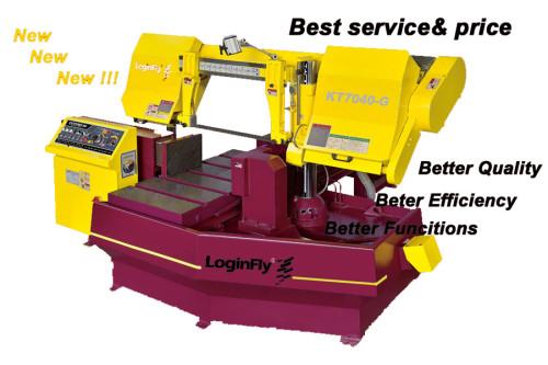 KT7040-G semi auto horizontal band saw single column metal cutting machine