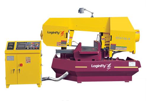 KT4135-X rotating digital automatic positioning band saw metal cutting machine