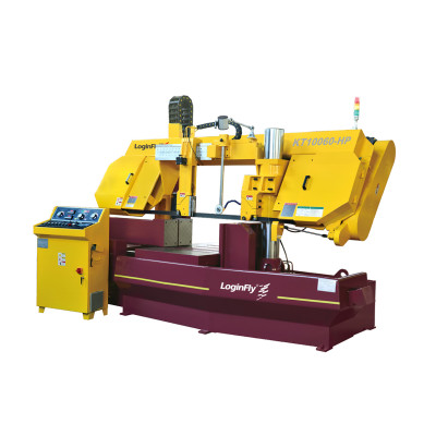 KT10060-HP semi automatic horizontal band saw machine for bundle cut