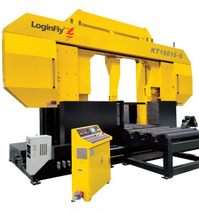 KT16016-G semi auto dragon gate horizontal hydraulic band saw machine for metal cutting