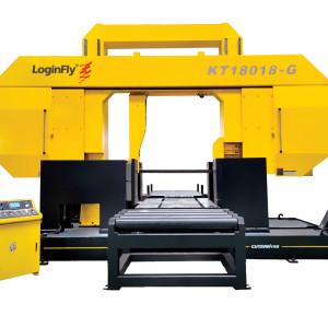KT18018-G double column hydraulic tension semi auto band saw metal cutting machine