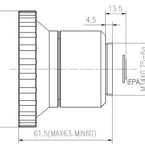LWIR Manual Focus Lens 4.8mm f/1.0