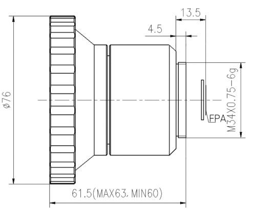 Manual focus ir lens 4.8mm f/1.0