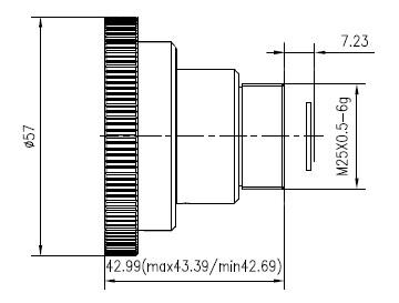 Manual focus lwir lens 5.3mm f/1.0