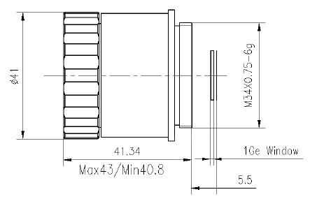 Manual focus lwir lens 25mm f/1.0