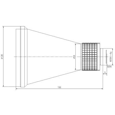 Manual focus lwir lens 150mm f/1.2