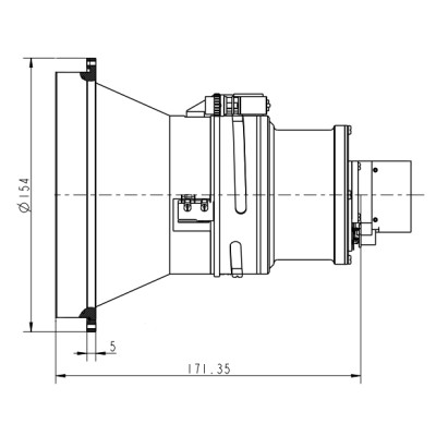 Motorized Focus LWIR Lens 150mm f/1.2