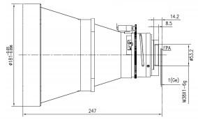 Uncooled Camera Motorized Focus LWIR Lens 200mm f/1.2